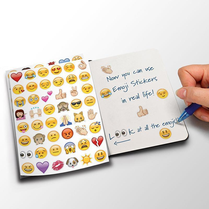 4Pcs 48 Die Cut Emoji Smile Sticker