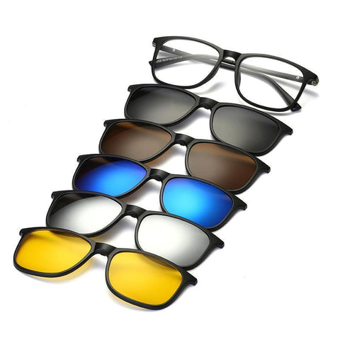 5 in 1 Magnetic Lens Swappable Sunglasses-ArtDixit