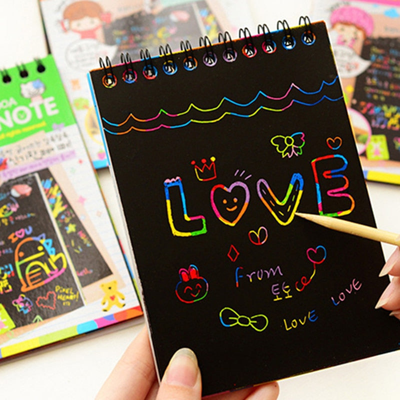 Scratch-Off Rainbow Notebook-ArtDixit