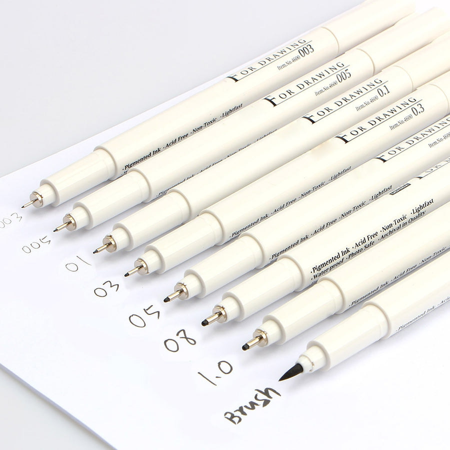Marvy Sketch Liner Brush Pens-ArtDixit
