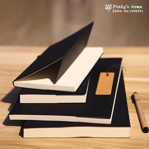 Blank Black Kraft Sketchbook-ArtDixit