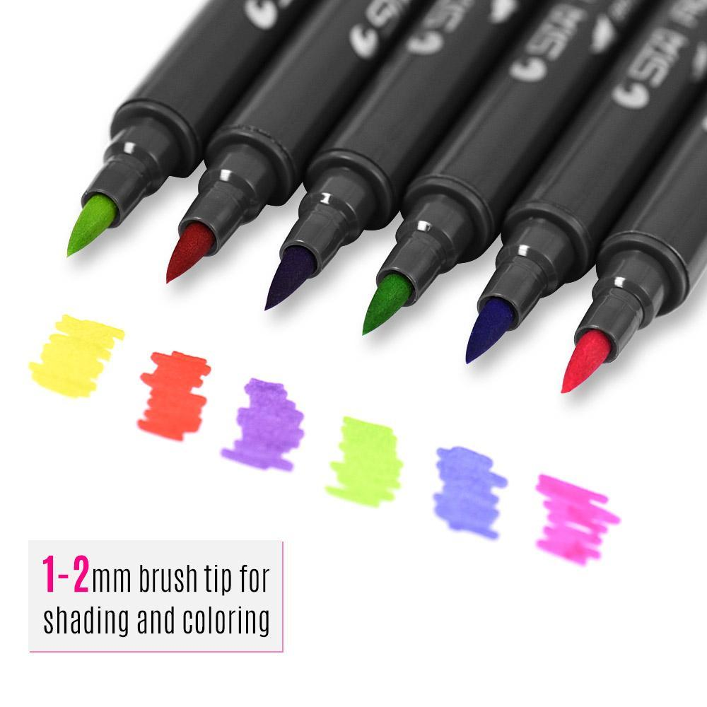 Aibecy Markers Dual Tips 12/24/36/48/80 Colors-ArtDixit