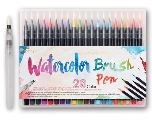 Watercolor Brush Pens - 20 Piece Set-ArtDixit