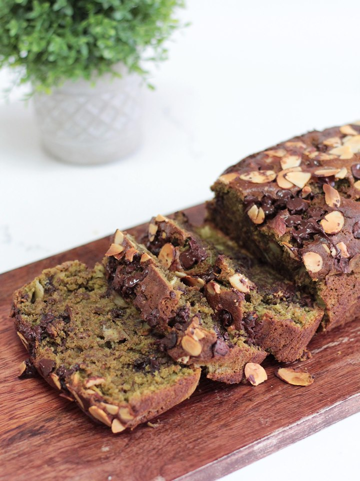 Vegan matcha banana bread