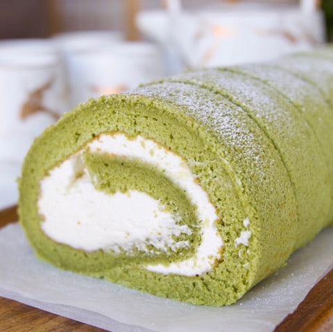 Matcha Swiss roll cake