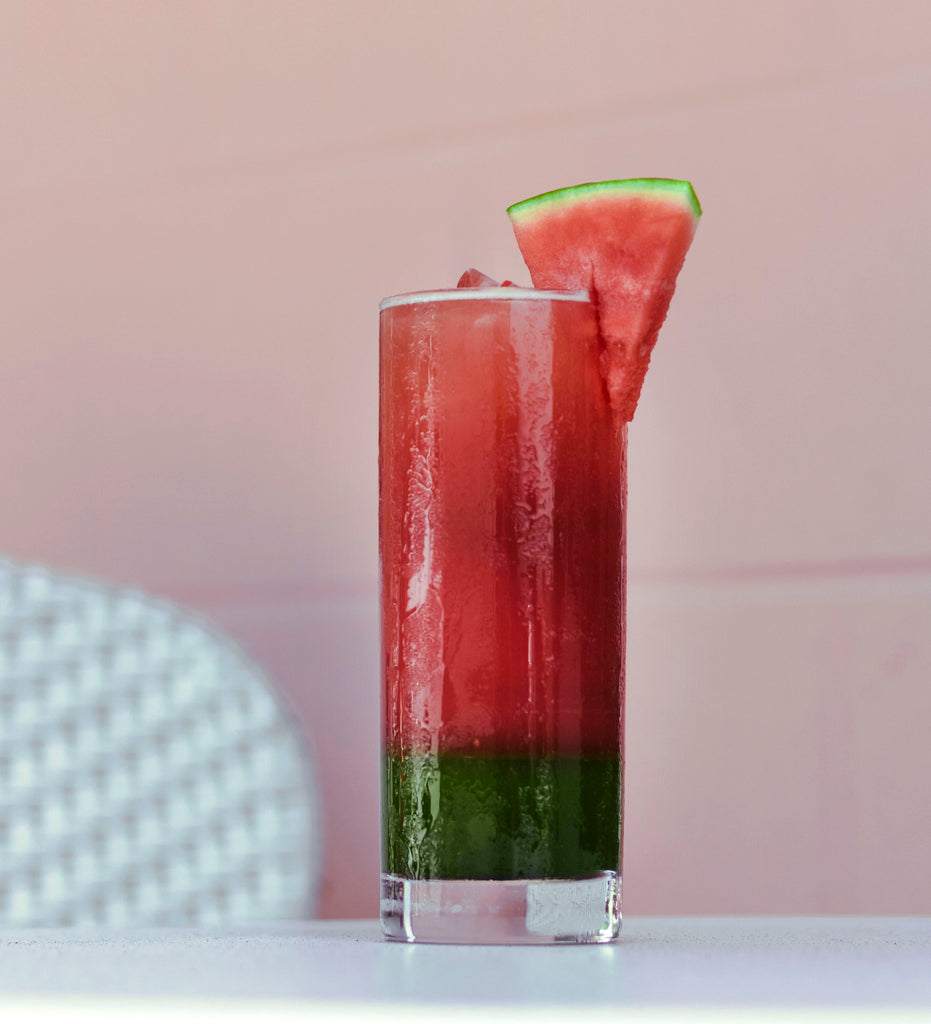 iced watermelon matcha