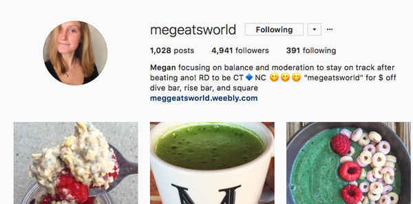 Megan Official instagram Page Image
