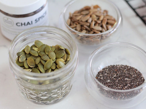 photo of chai spice and seeds for snack cookies