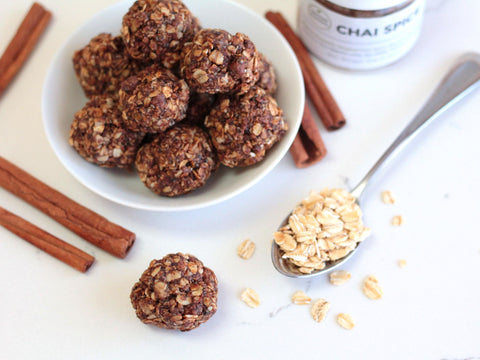 photo of dirty chai energy balls