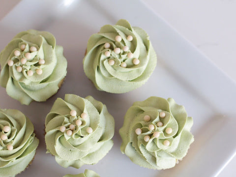 photo of matcha green tea cupcakes