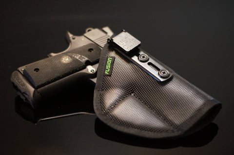 Image of 1911 non slip supported inside the waistband iwb holster with the security of an Ulticlip