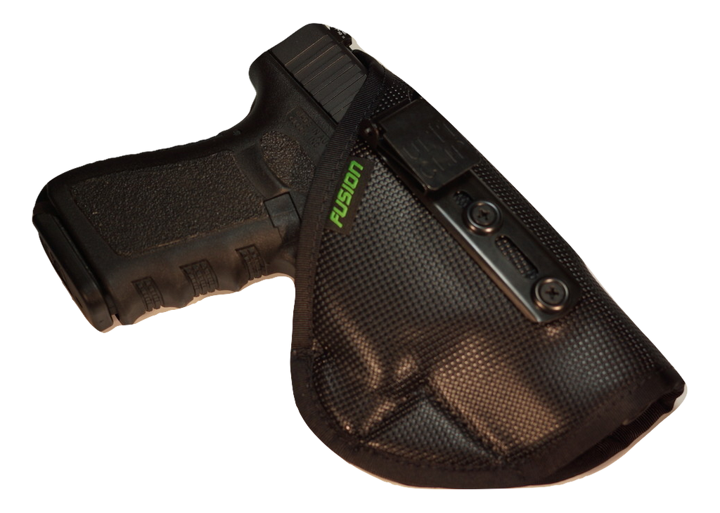 Glock inside the waistband iwb holster with a concealable clip.
