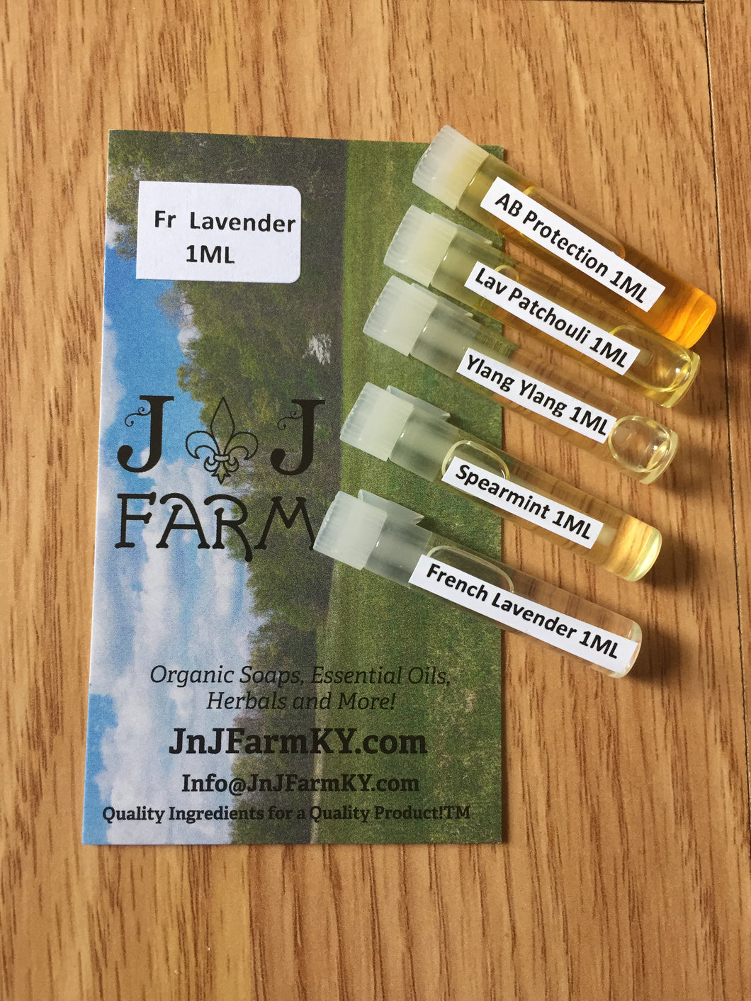 1ML Sample Vials of  Essential Oils - JnJFarmKY
