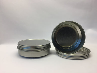 2oz Rust Proof Screw Top Metal Tins