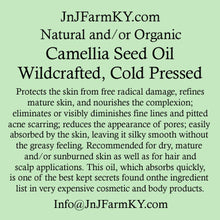 Carrier Oils, Organic Cold-Pressed