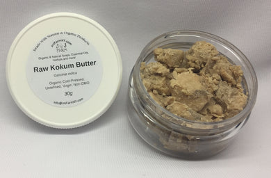 Kokum Butter - Unrefined, Unfiltered Raw Organically Grown/Wild Harvested