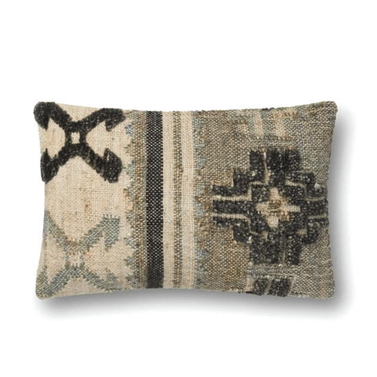 13x21 Multi Wool/Jute Pillow