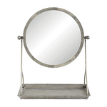 17-3/8''H Metal Mirror on Stand