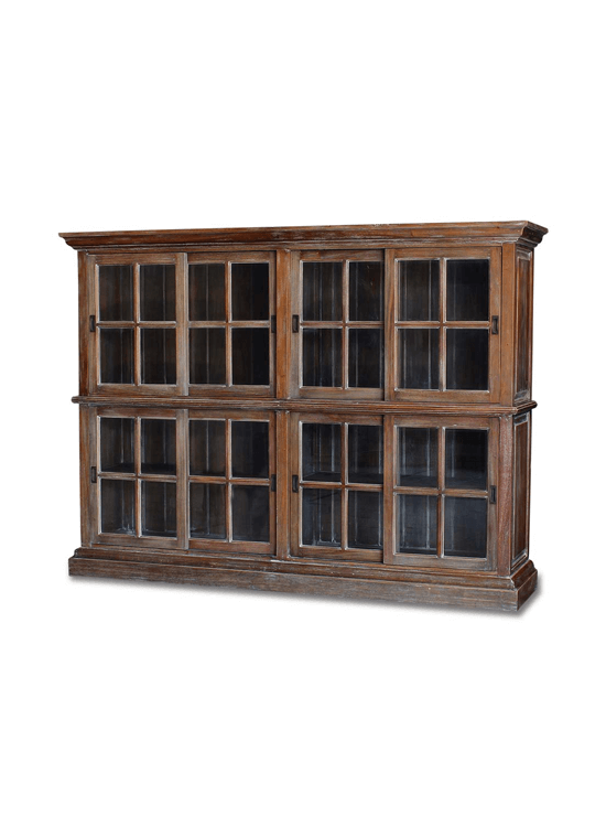 English Bookcase Two Layer Medium
