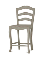 Ladder Back Counter Stool w/ Wood Seat
