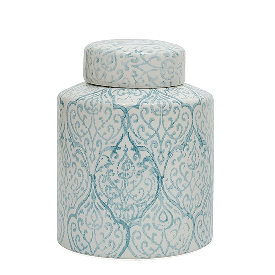8 RX10 H Decor Ceramic Ginger Jar, Blue/White