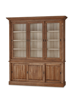 Hudson 88 Bookcase w/ 3 Sliding Doors