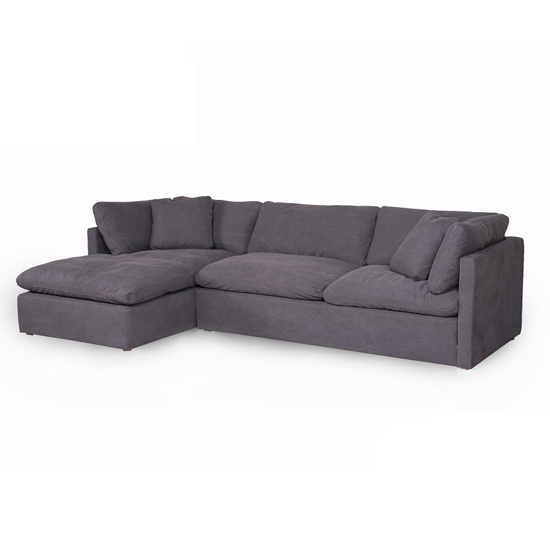 Pimlico 2PC Left Chaise Sofa:   Alpha Grey
