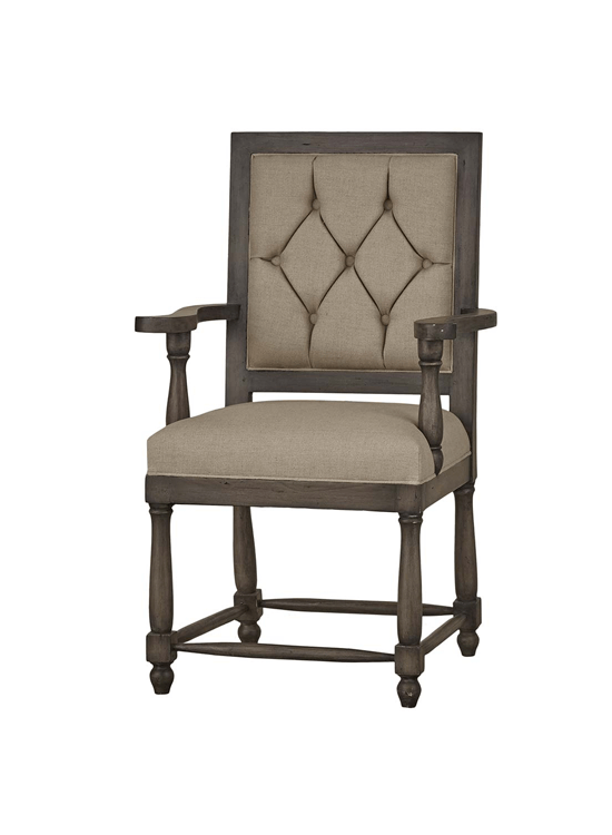 Fletcher Dining Armchair w/ Tufting