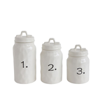 Numbered Ceramic Canister Set