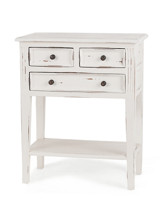 Elton 3 Drawer Side Table