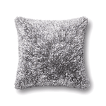 Grey Shaggy Pillow 22x22