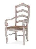 Ladder Back Arm Chair w/ Rush Seat