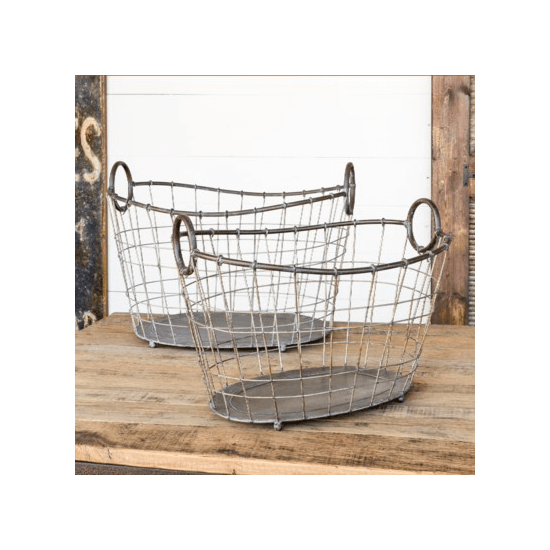 Wire Laundry Basket, Sm.