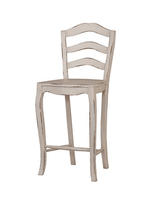Ladder Back Barstool w/ Wood Seat