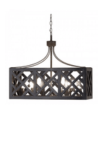 Medium Dalston Crisscross Box Chandelier