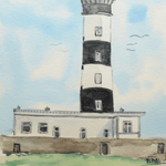 2012 Lighthouse Watercolor by G.Vidal, 15x12