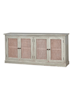 Wilmington 4 Door Sideboard w/ Rattan