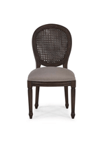 Tulip Rattan Back Dining Chair w/out Fluted Leg