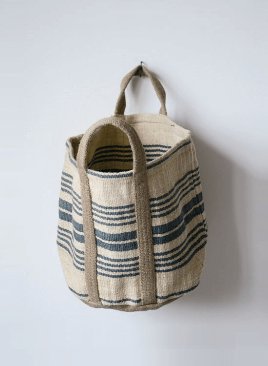Jute Striped Sandy Bag