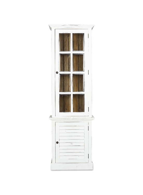 Cottage Tall Cabinet w/ Glass