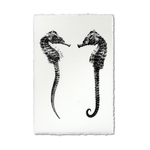 Double Seahorse, 22x30, Nepalese Handmade, Print Only