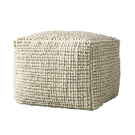 Wool and Cotton Pouf