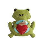 10''Wx11''H Wool Frog Tooth Pillow, Green