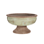 Distressed Pedestal Bowl