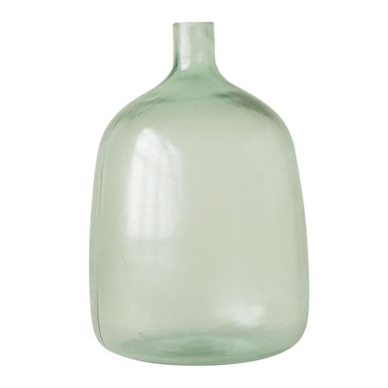 9'' Round x 14-1/2'' Round Glass Bottle, Sea Glass
