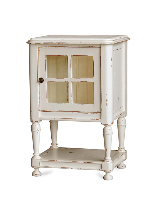 Orleans Nightstand with Glass