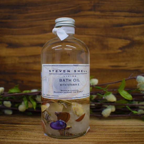 Sea Garden 8oz bath oil w/Shells in Glass