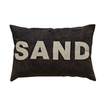 24''L x 16''H Canvas Applique Pillow ''Sand''