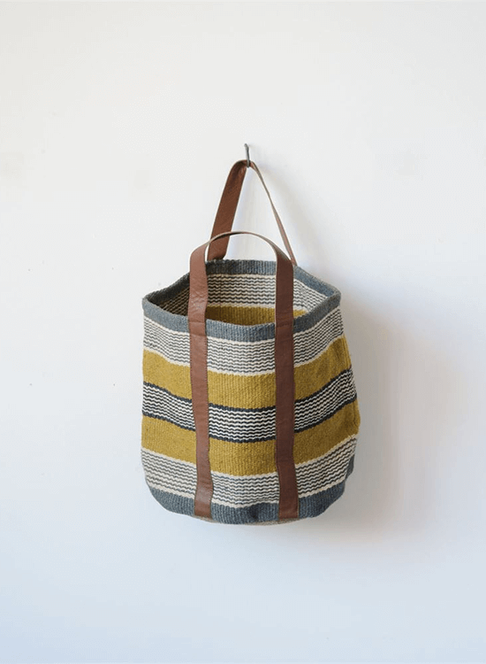 Jute Striped Crew Bag