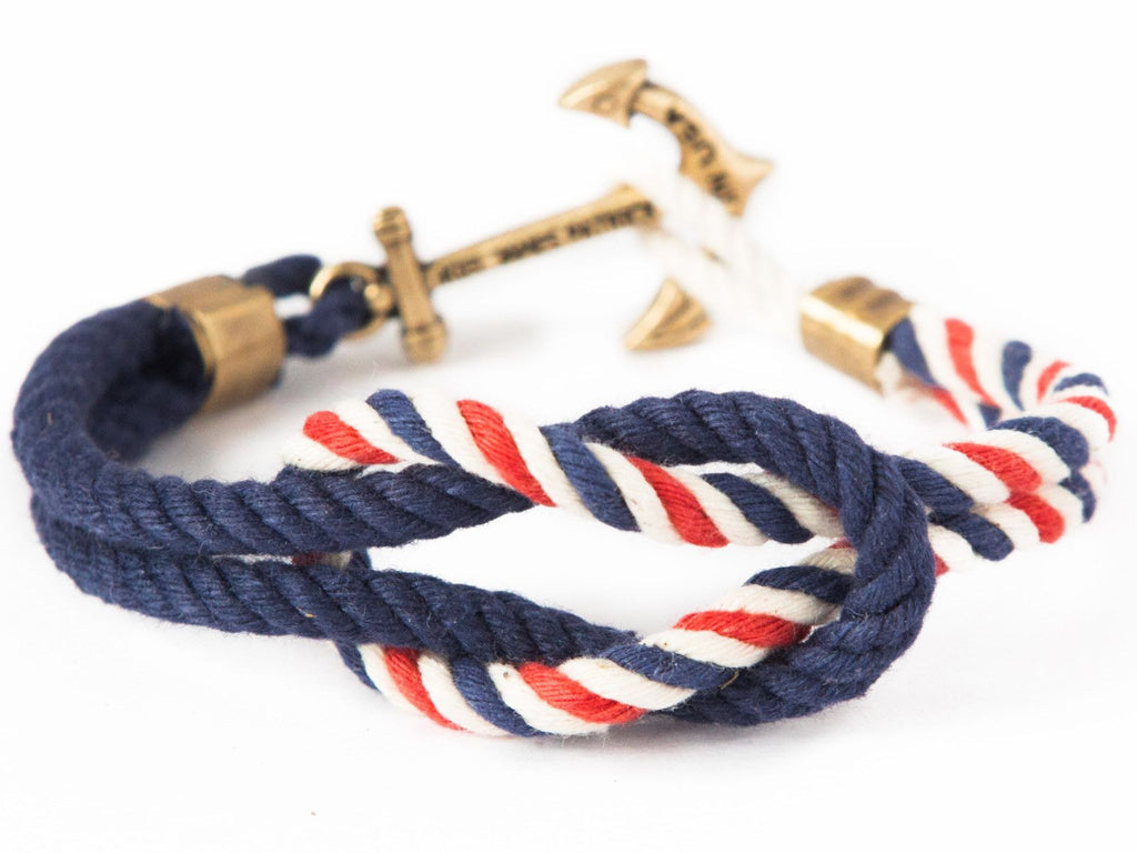 American Coast - Kiel James Patrick Anchor Bracelet Made in the USA